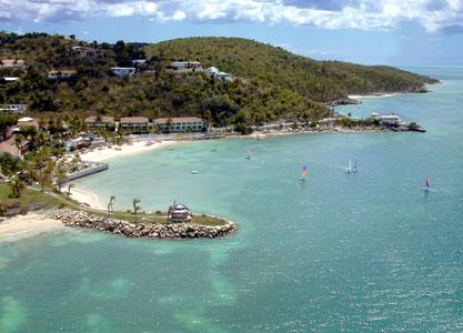 Blue Waters Beach Hotel, Antigua-, Caribbean