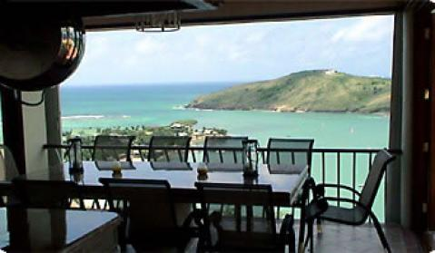View from entertainment bungalow at Villa St. James Vacation Rental in Antigua