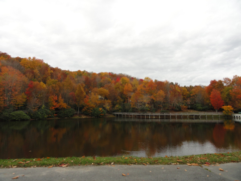 Beech Mountain's Lake Coffey has a 1/4 mile walking path around it and is stocked with trout!