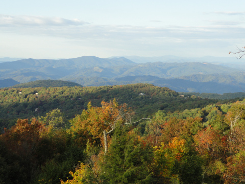 View miles of mountains from several areas on Beech!
