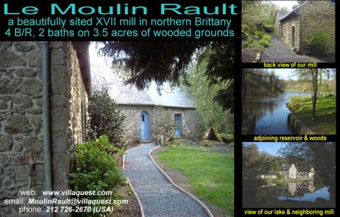 Le Moulin Rault - Vacation Rental in Brittany