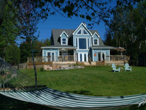 MAIN MANOR FROM OCEAN VIEW - Cape Breton Island Hotels