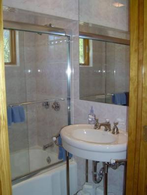 Bathroom at The Cottage at Chichester - Catskills Vacation Rentals