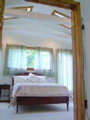 Master bedroom at The Cottage at Chichester - Catskills Vacation Rentals
