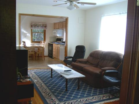 Livingroom at The Cottage at Chichester - Catskills Vacation Rentals