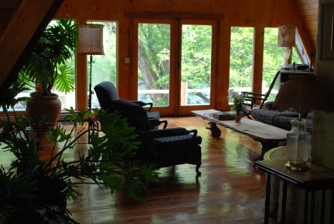 The living room- Catskills Vacation Homes