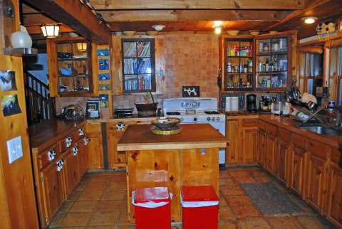 The fully equipted kitchen- Catskills Vacation Homes