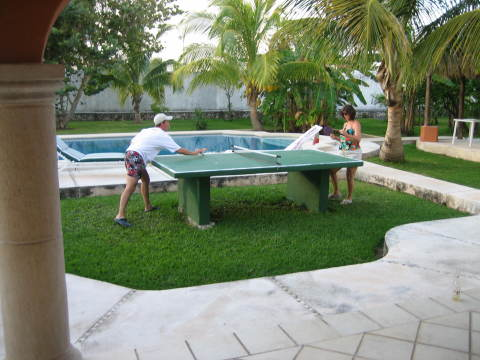 ping pong poolside - Cozumel Vacation Villas