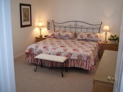 Master bedroom at 'SeaDucktion' - Duck Vacation Rental Home