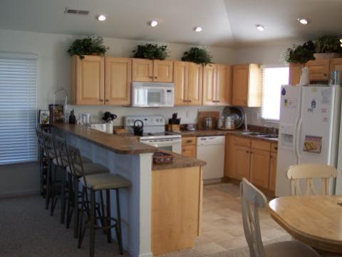Fully equiped kitchen at 'SeaDucktion' Vacation Rental