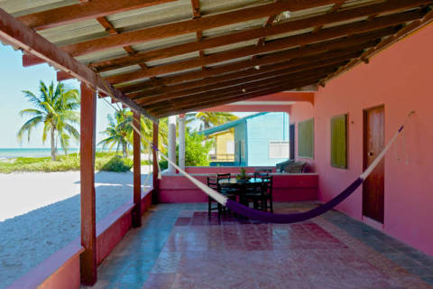 3 Bedrooms Beachfront House  - Vacation Rental in El Cuyo