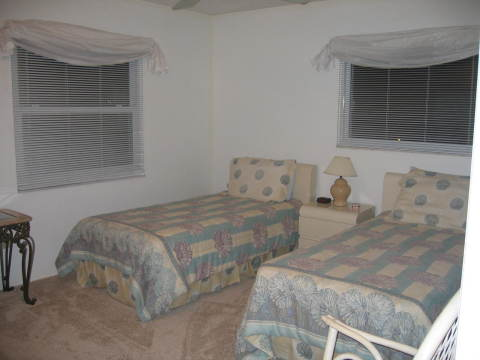 2nd Bedroom Twin Beds - Fort Myers Beach Vacation Homes