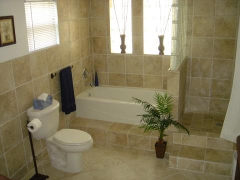 Spa Quality Master Bath adjoining Honeymoon Master Suite Top Floor