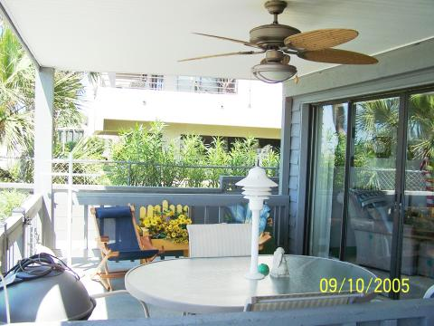 The porch at Shack on the Sand Vacation Rent in Indian Rocks FL
