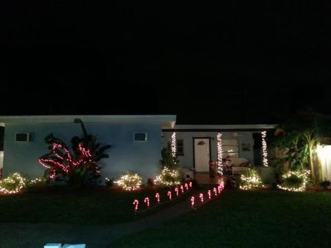 Front of the house during the holidays