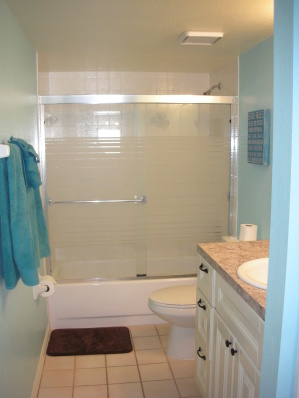 2nd full bathroom w/ tub & shower