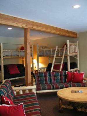 Bunkroom with plenty of space for kids