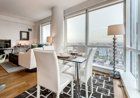 Luxury 1 BR apartment in Jersey City with Views of