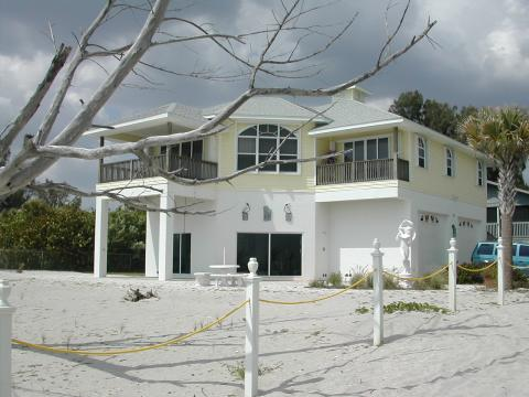 Exterior  from Beach- Manasota Key Vacation Rental