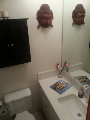 one of two private bathrooms