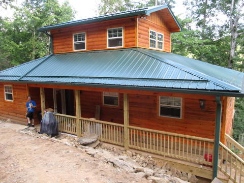 Secluded, mountain view, log cabin, hot tub, canoe - Vacation Rental in Murphy