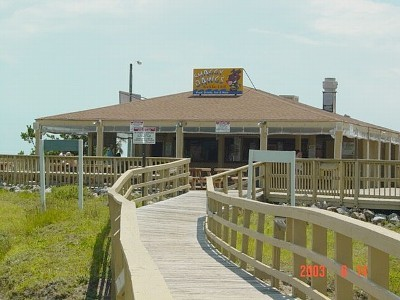 Oceanfront Tiki Bar- right out back
