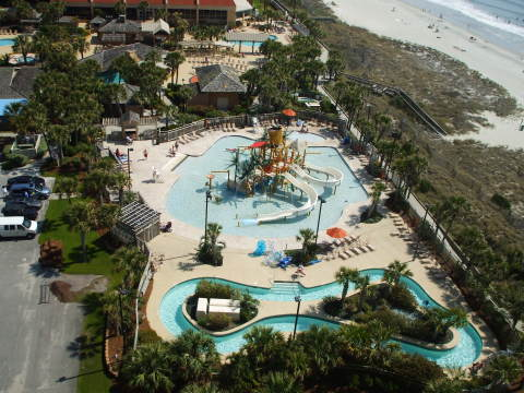 View of SPLASH! Water Park from Balcony