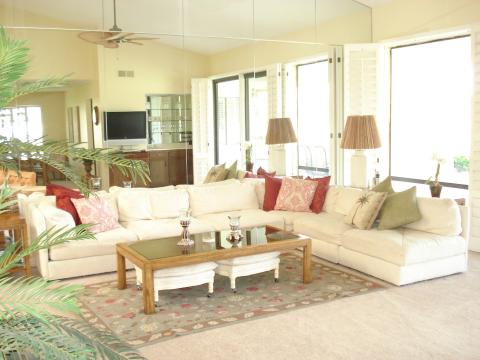 Luxury Rancho Las Palmas Country Club 1-Level Golf - Vacation Rental in Palm Desert
