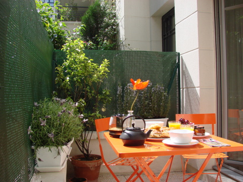 More of the terrace - Paris Vacation Apartments
