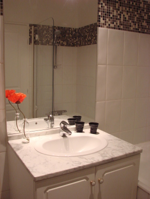 Bath tub and shower - Paris Vacation Apartments