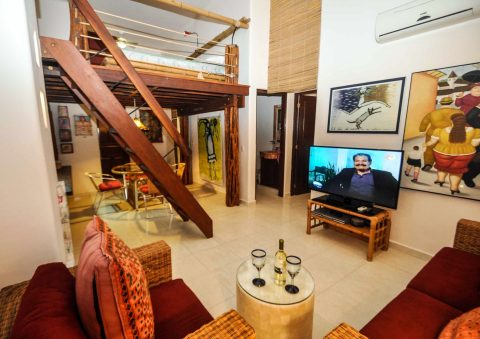 Charming Condo with Loft Downtown (PK07) - Vacation Rental in Playa Del Carmen