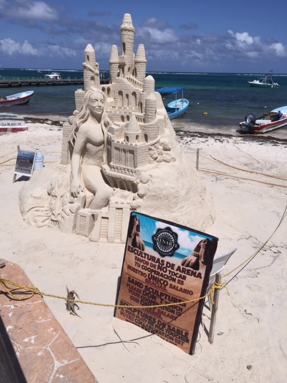 Sand Sculpture by local Artist