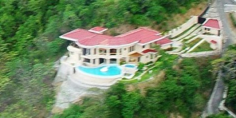 Aerial Hillside View of Villa Noche