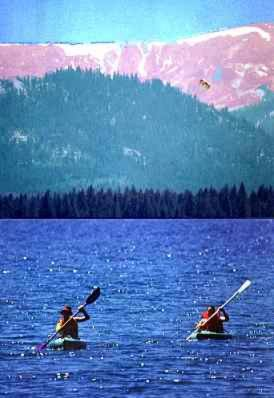 Kayaking. The confirmation package has lots of activities for Tahoe