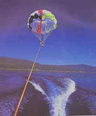 Parasailing on the lake