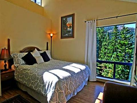 Spacious bedroom with picture window