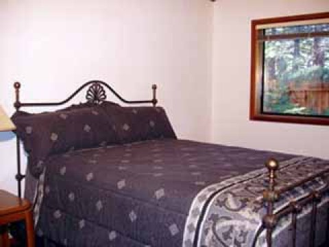 Property #2: Bedroom2 (downstairs - queen) - South Lake Tahoe Vacation Homes