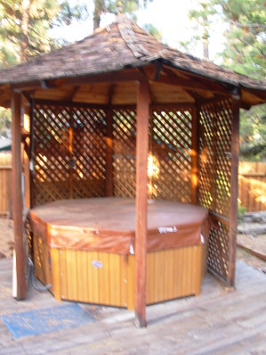 Gazebo with Hot Tub in large private backyard - South Lake Tahoe Vacation Homes