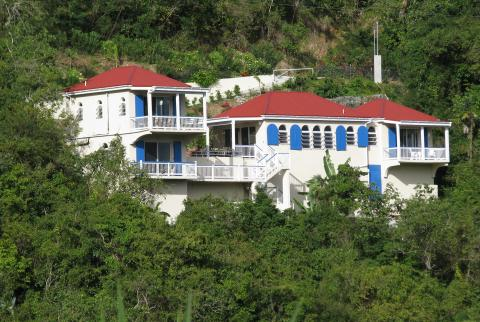 Distance view of Blue Palm Villa