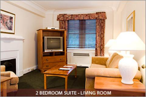 2 Bedroom Suite Living Room - Toronto Hotels