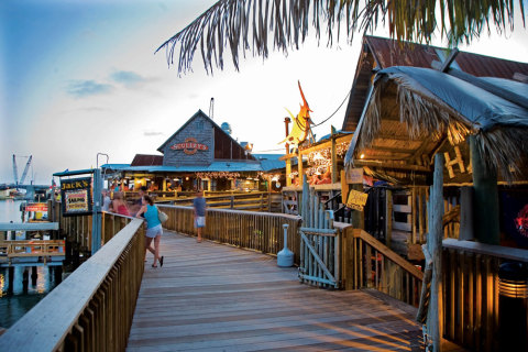 Historic Johns pass Village on the Island - great fresh sea food to be had