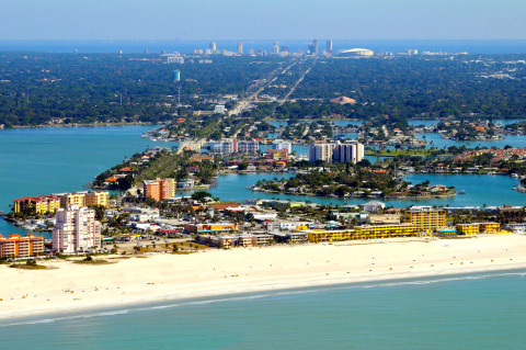 Our Beach With the City of St Pete in the Distance