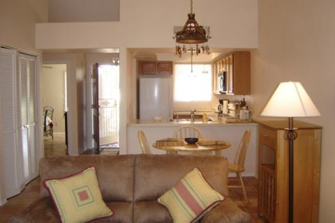 Living room to kitchen - Tucson Vacation Condos