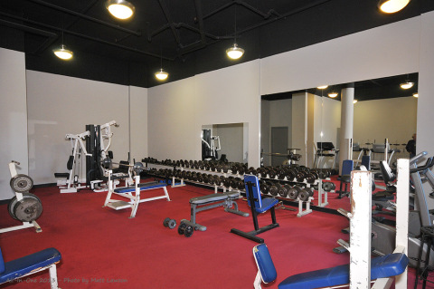 Common area work out room available for your stay.