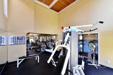 Common area work out room.