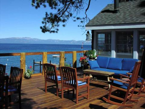 Looking out to Lake Tahoe from the House